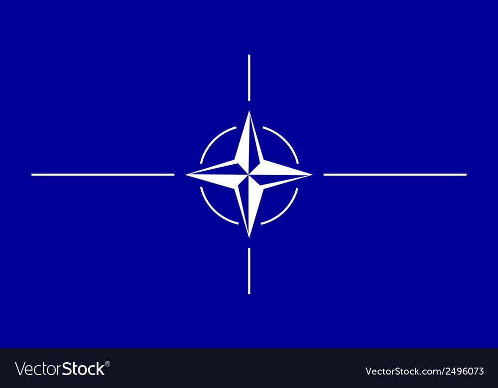 Flag of nato vector | Price: 1 Credit (USD $1)