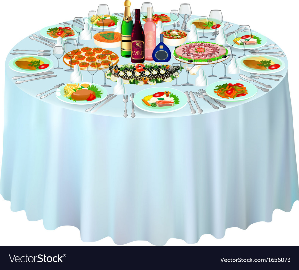 Gala buffet served vector | Price: 1 Credit (USD $1)