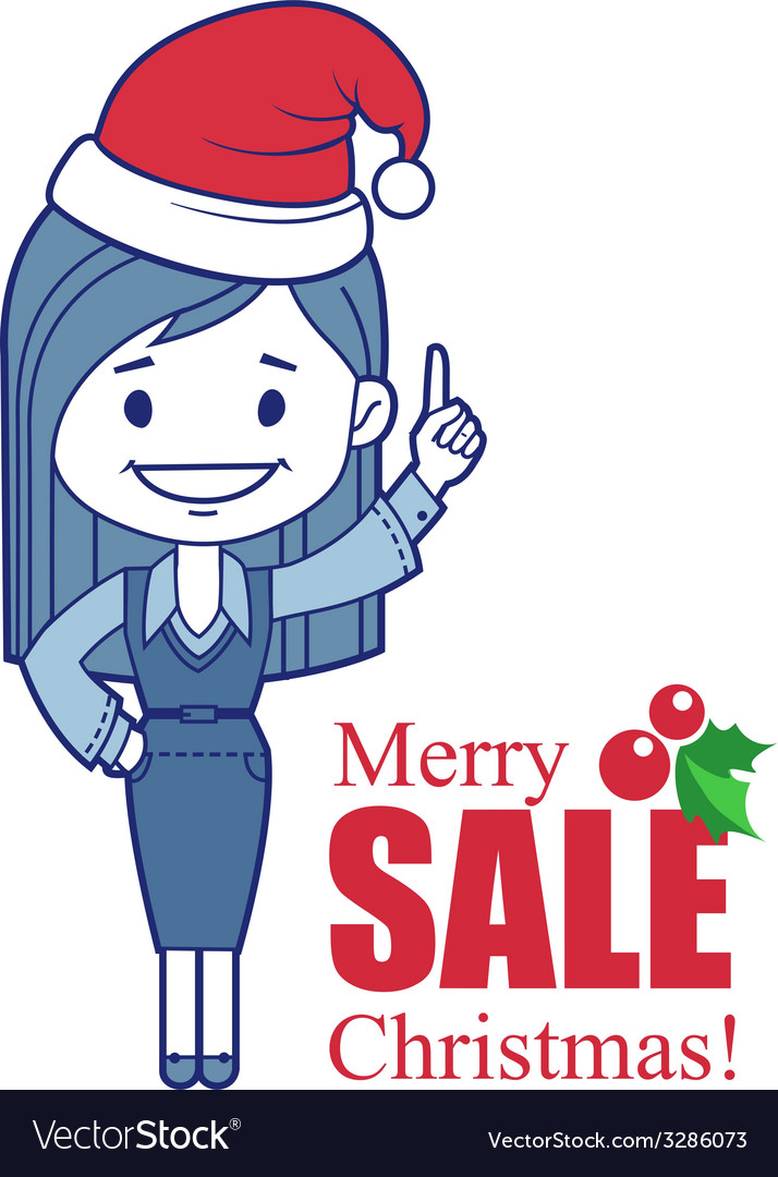 Promotional banner with santa claus vector | Price: 1 Credit (USD $1)