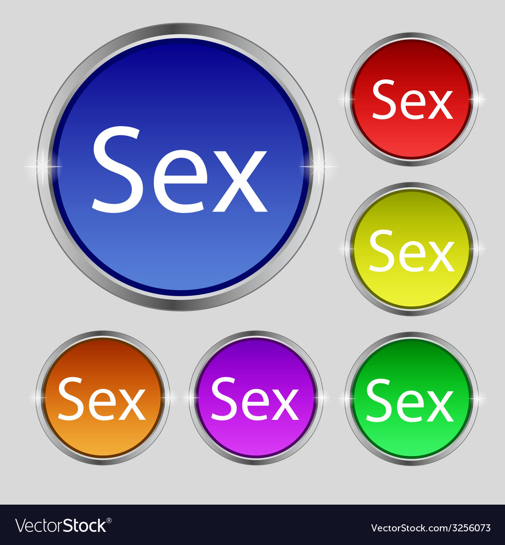 Safe love sign icon safe sex symbol set of colored vector   Price: 1 Credit (USD $1)