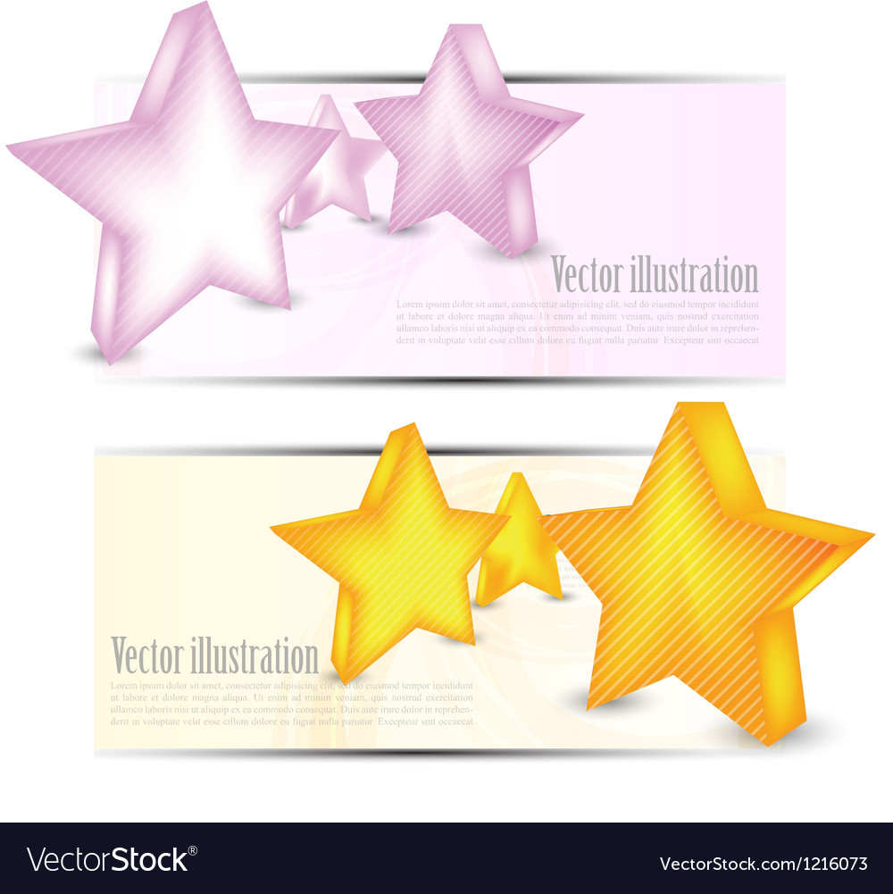 Set of banners with stars vector | Price: 1 Credit (USD $1)
