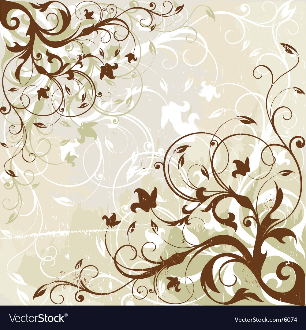 Antique floral background vector | Price: 1 Credit (USD $1)