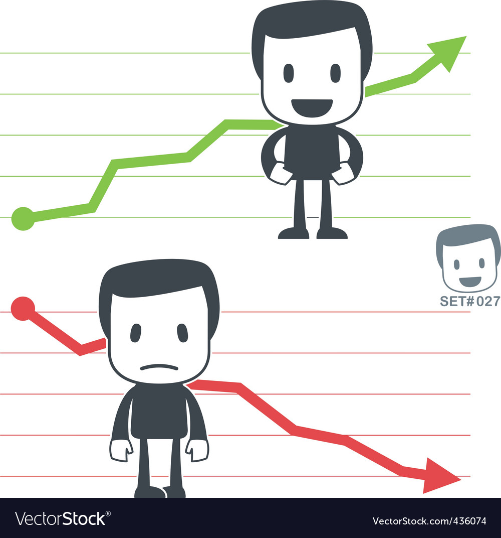 Chart icon man vector | Price: 1 Credit (USD $1)