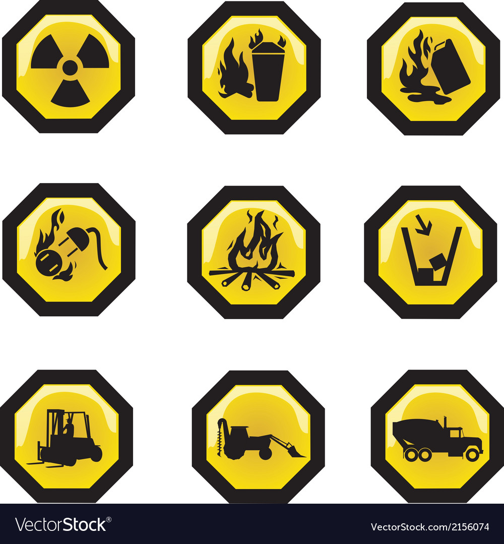 Construction security icons vector | Price: 1 Credit (USD $1)
