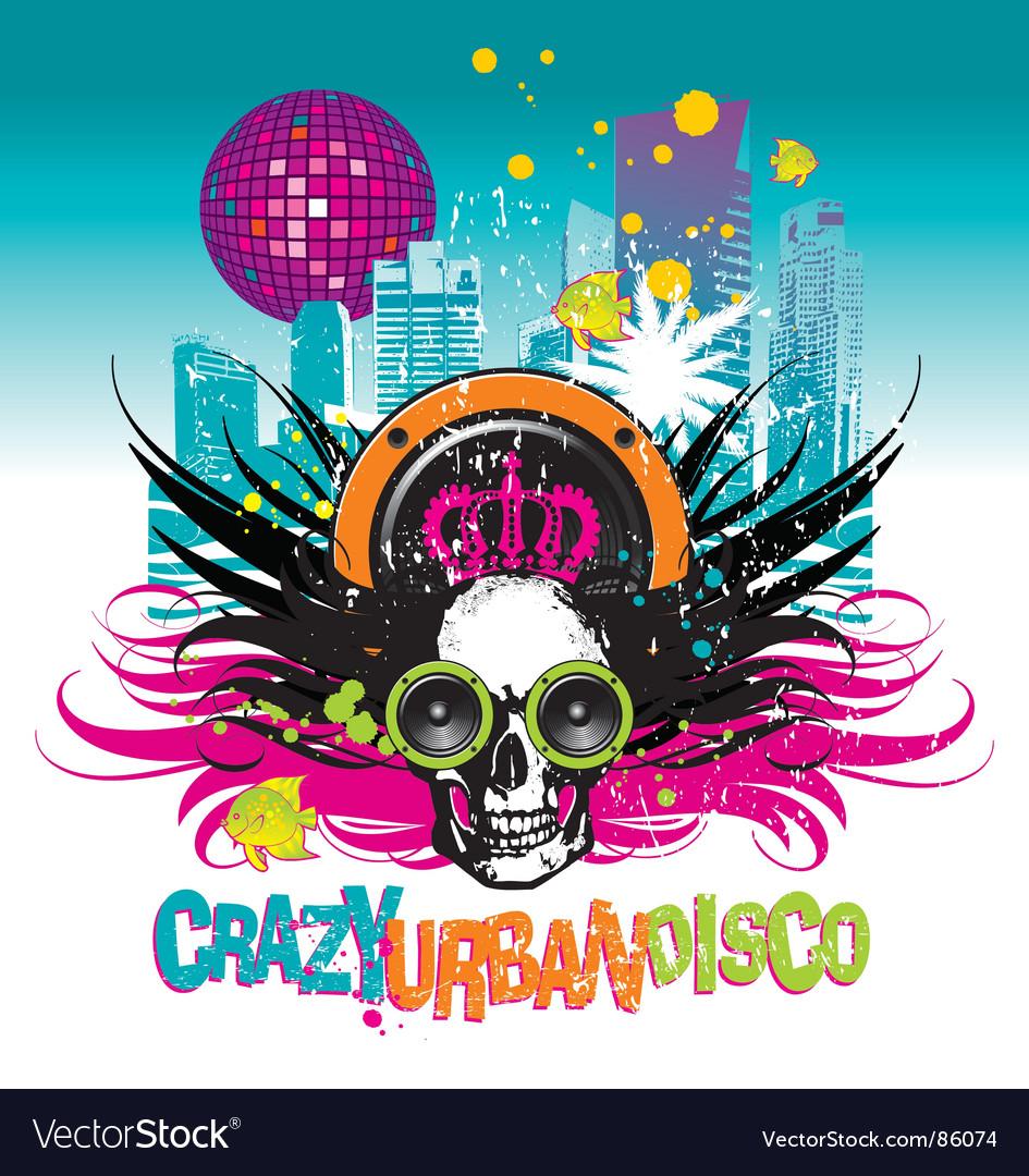 Crazy urban disco vector | Price: 1 Credit (USD $1)