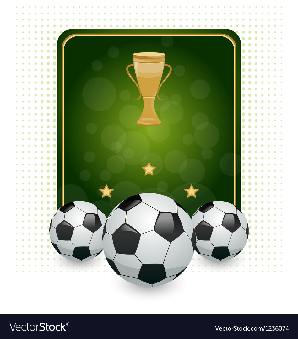 Football layout with champion cup and place for vector | Price: 1 Credit (USD $1)