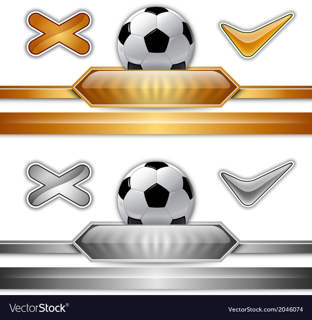 Football score gold silver vector | Price: 1 Credit (USD $1)