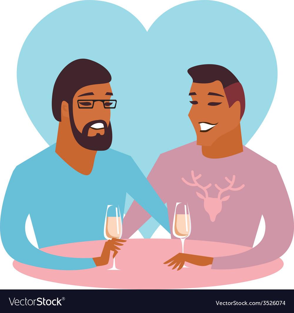 Happy gay couple vector | Price: 1 Credit (USD $1)