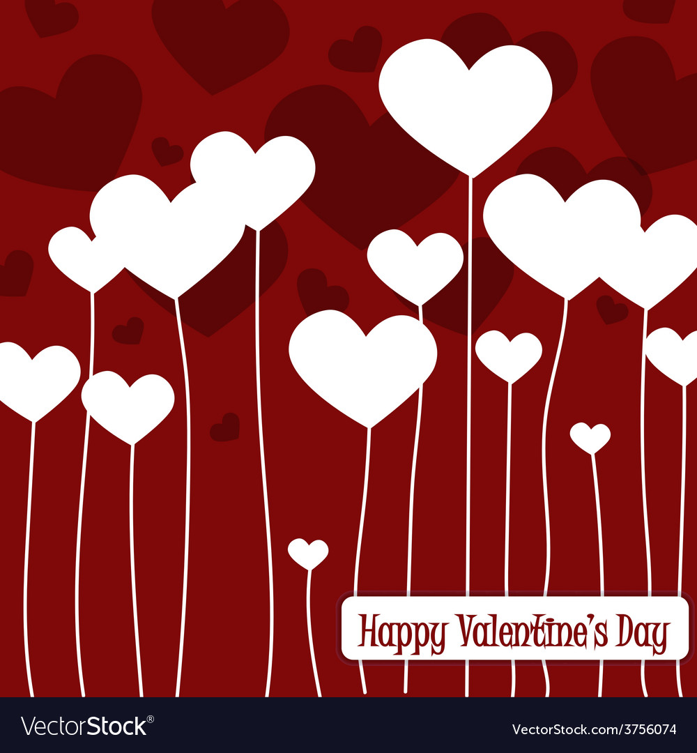 Happy valentines day cards with hearts1 vector | Price: 1 Credit (USD $1)