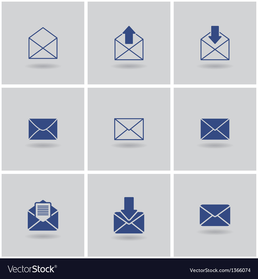 Icons envelope vector | Price: 1 Credit (USD $1)