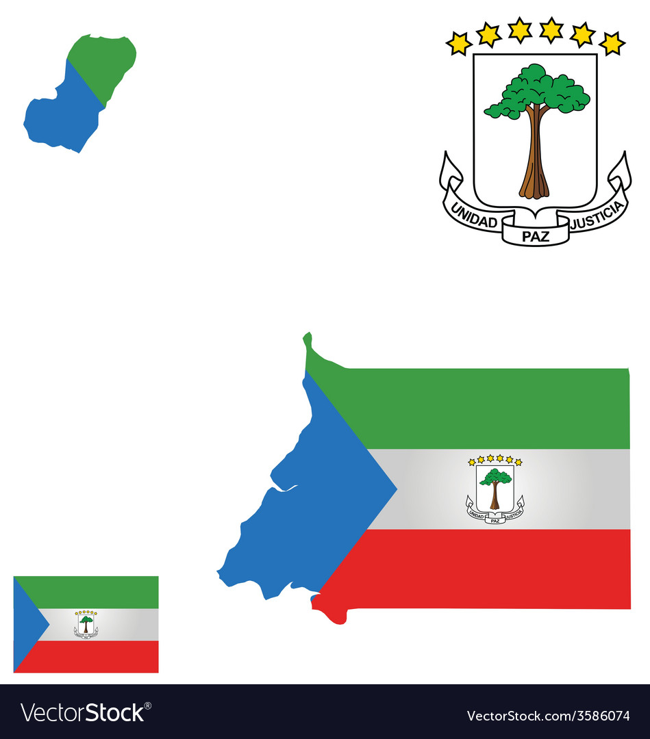 Republic of equatorial guinea flag vector | Price: 1 Credit (USD $1)