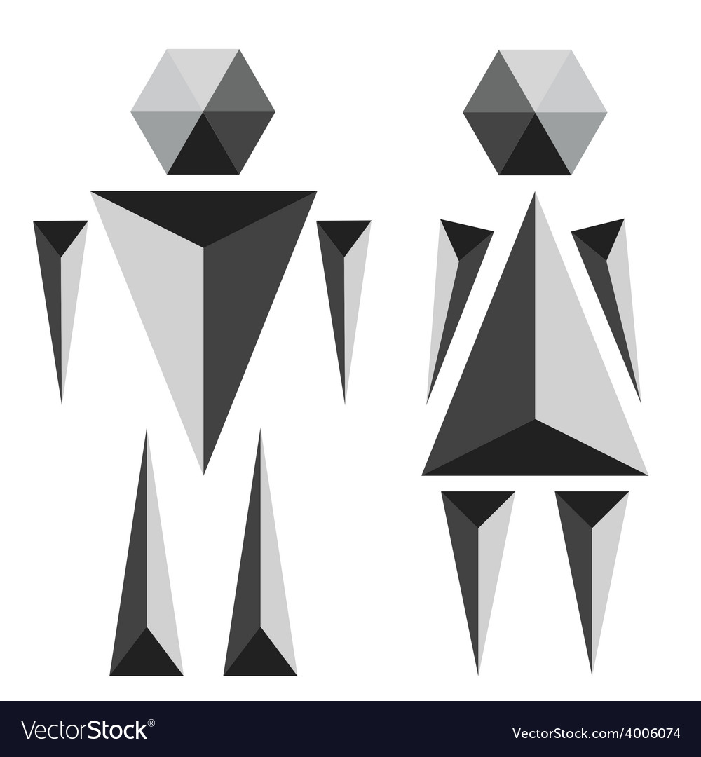 Wc toilet polygon sign vector | Price: 1 Credit (USD $1)