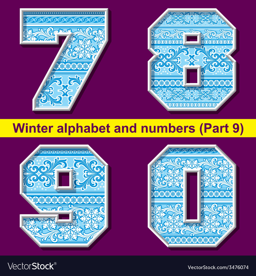 Winter abc 09 vector | Price: 1 Credit (USD $1)