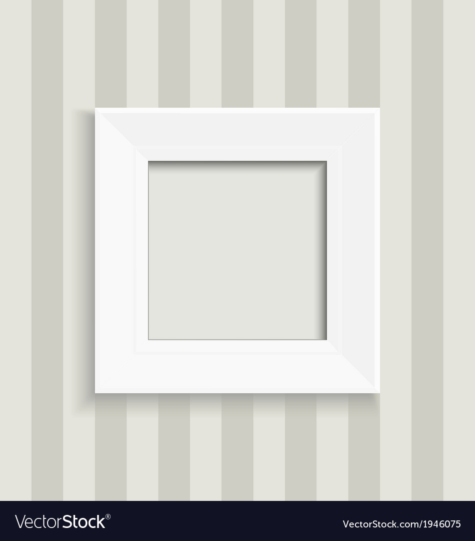 Blank square picture frame vector | Price: 1 Credit (USD $1)