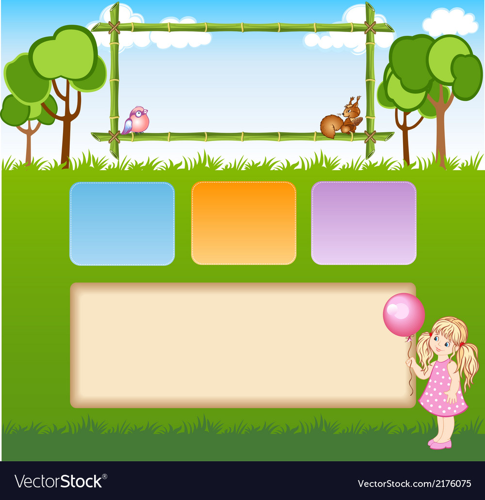 Child template for web site vector | Price: 1 Credit (USD $1)