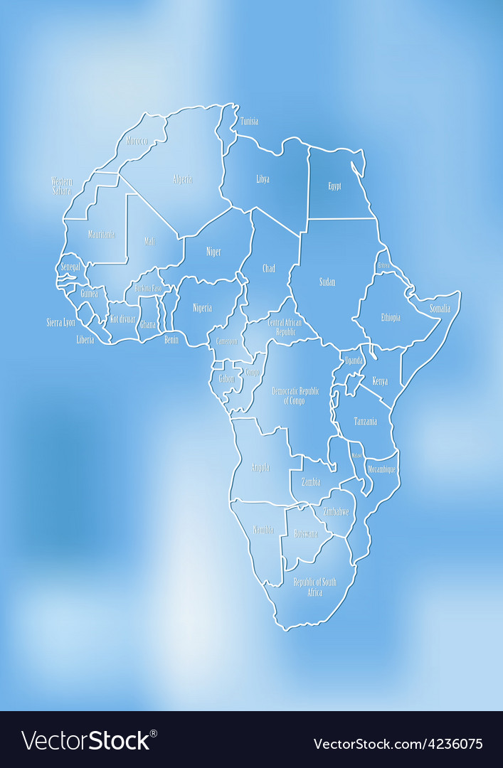 Creative map of the african continent vector | Price: 1 Credit (USD $1)