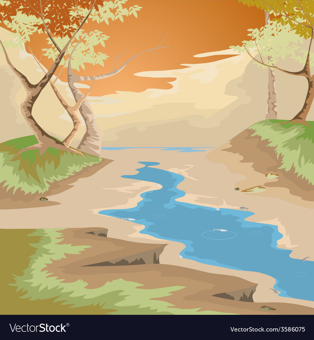 Drought and forest vector | Price: 1 Credit (USD $1)