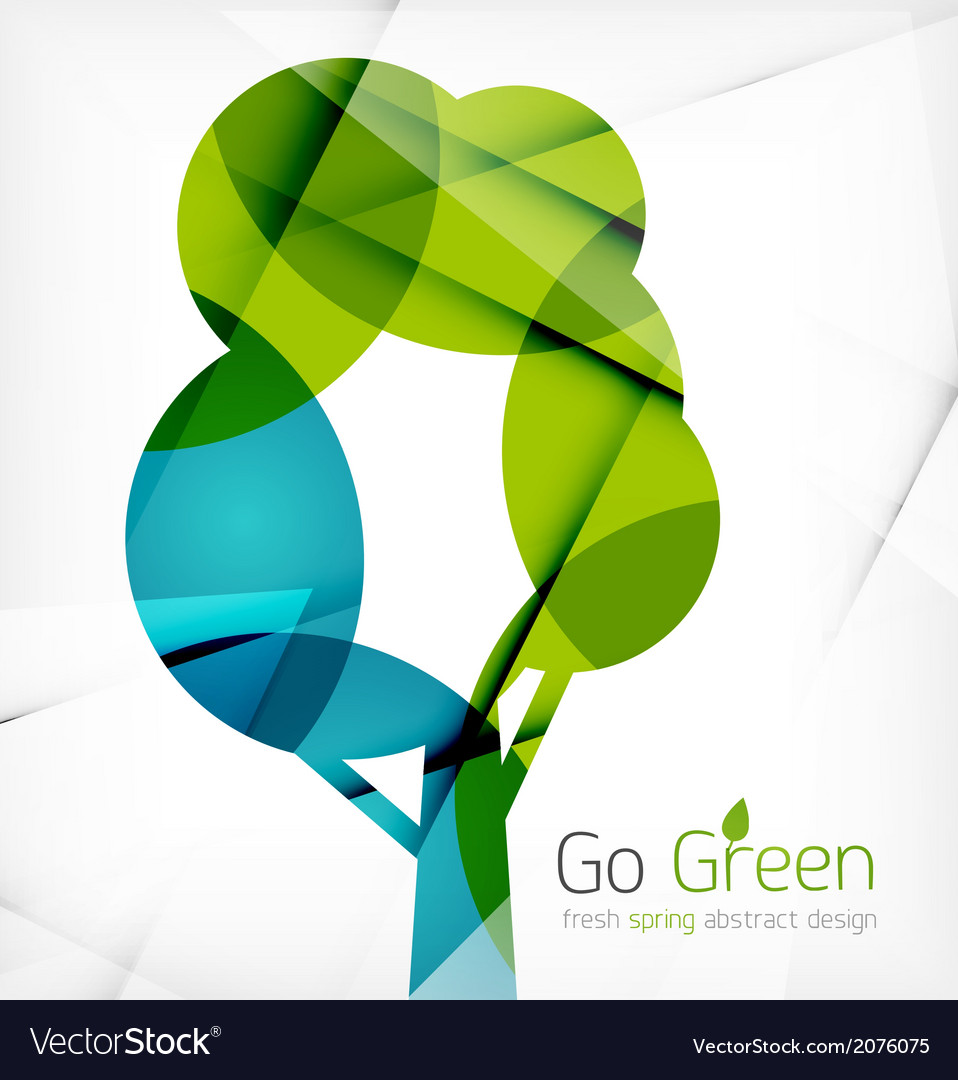 Eco tree abstract shape design vector | Price: 1 Credit (USD $1)