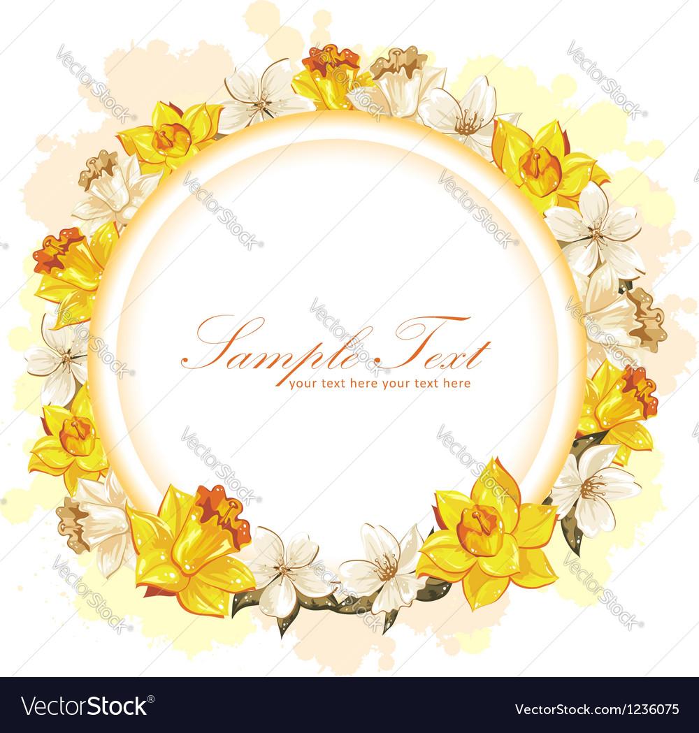 Elegant colorful flower invitation postcard vector | Price: 3 Credit (USD $3)