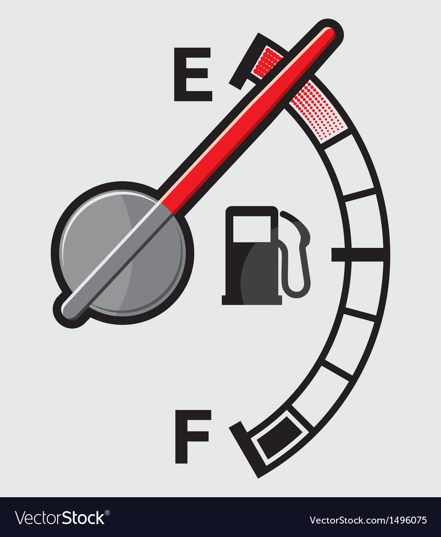 Empty gas tank indicator vector | Price: 1 Credit (USD $1)