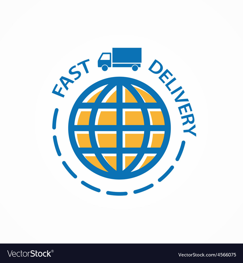 Fast delivery logo vector | Price: 1 Credit (USD $1)