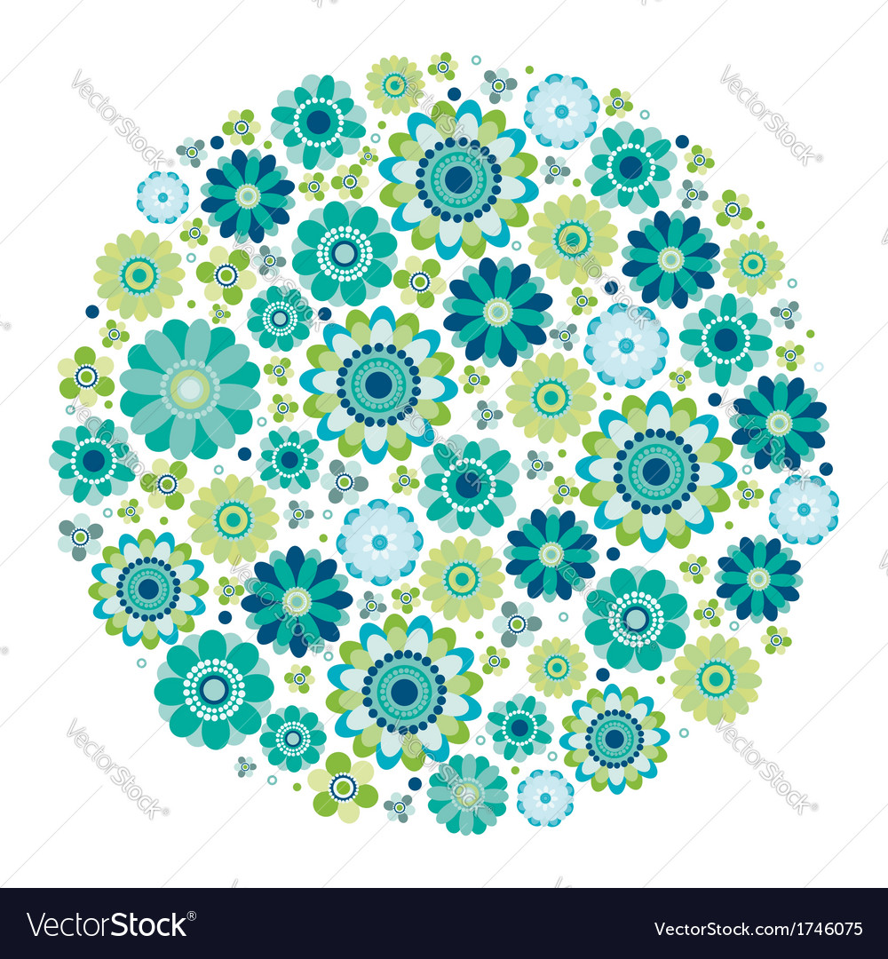 Green design - flower circle vector | Price: 1 Credit (USD $1)