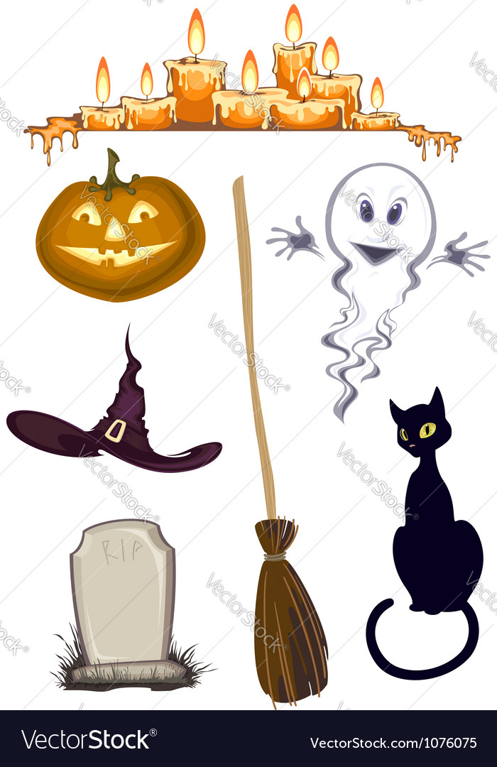 Halloween clipart  set of icons vector | Price: 1 Credit (USD $1)