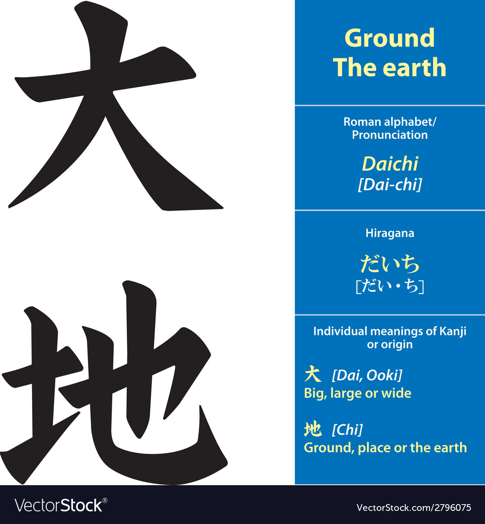 Kanji calligraphy ground vector | Price: 1 Credit (USD $1)