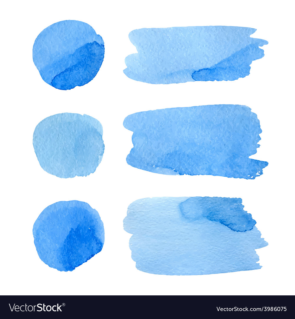 Set of watercolor stripes vector   Price: 1 Credit (USD $1)