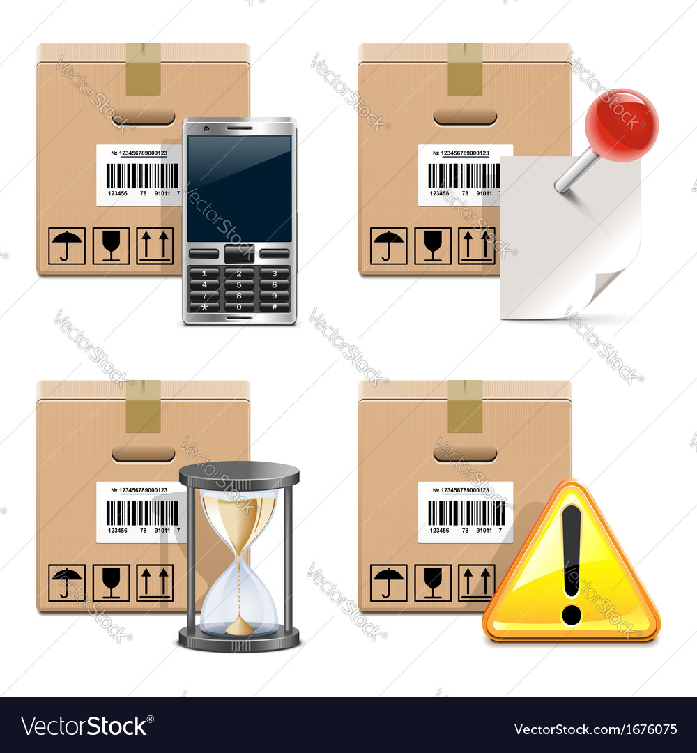 Shipment icons set 14 vector | Price: 1 Credit (USD $1)