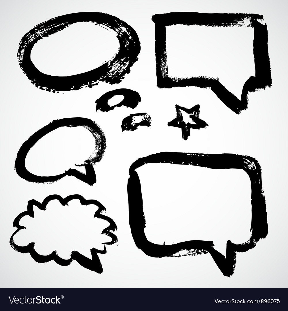 Speech and thought bubbles vector   Price: 1 Credit (USD $1)