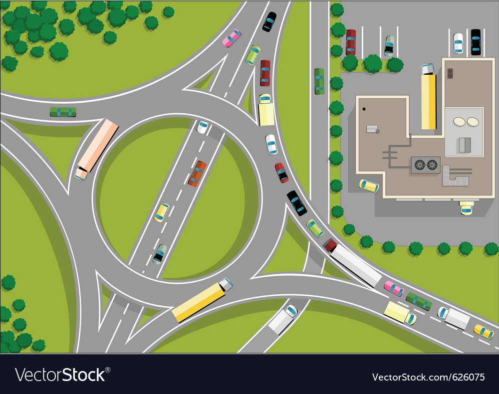 Traffic roundabout vector | Price: 1 Credit (USD $1)