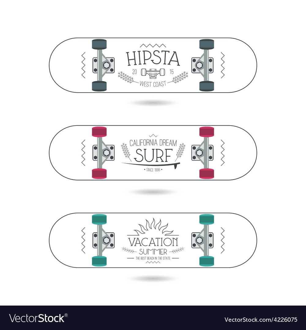 Trendy print on a skateboards vector | Price: 1 Credit (USD $1)