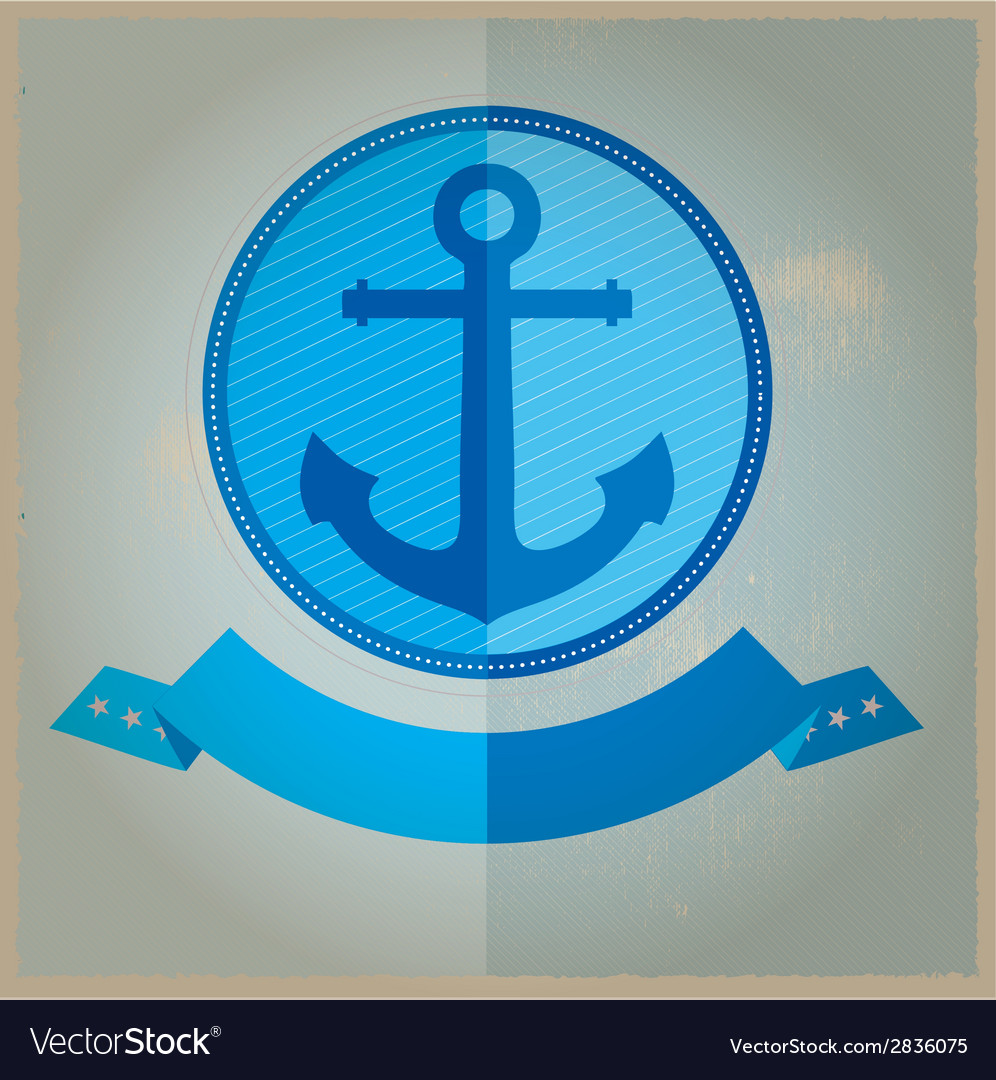 Vintage retro nautical badges and labels vector | Price: 1 Credit (USD $1)