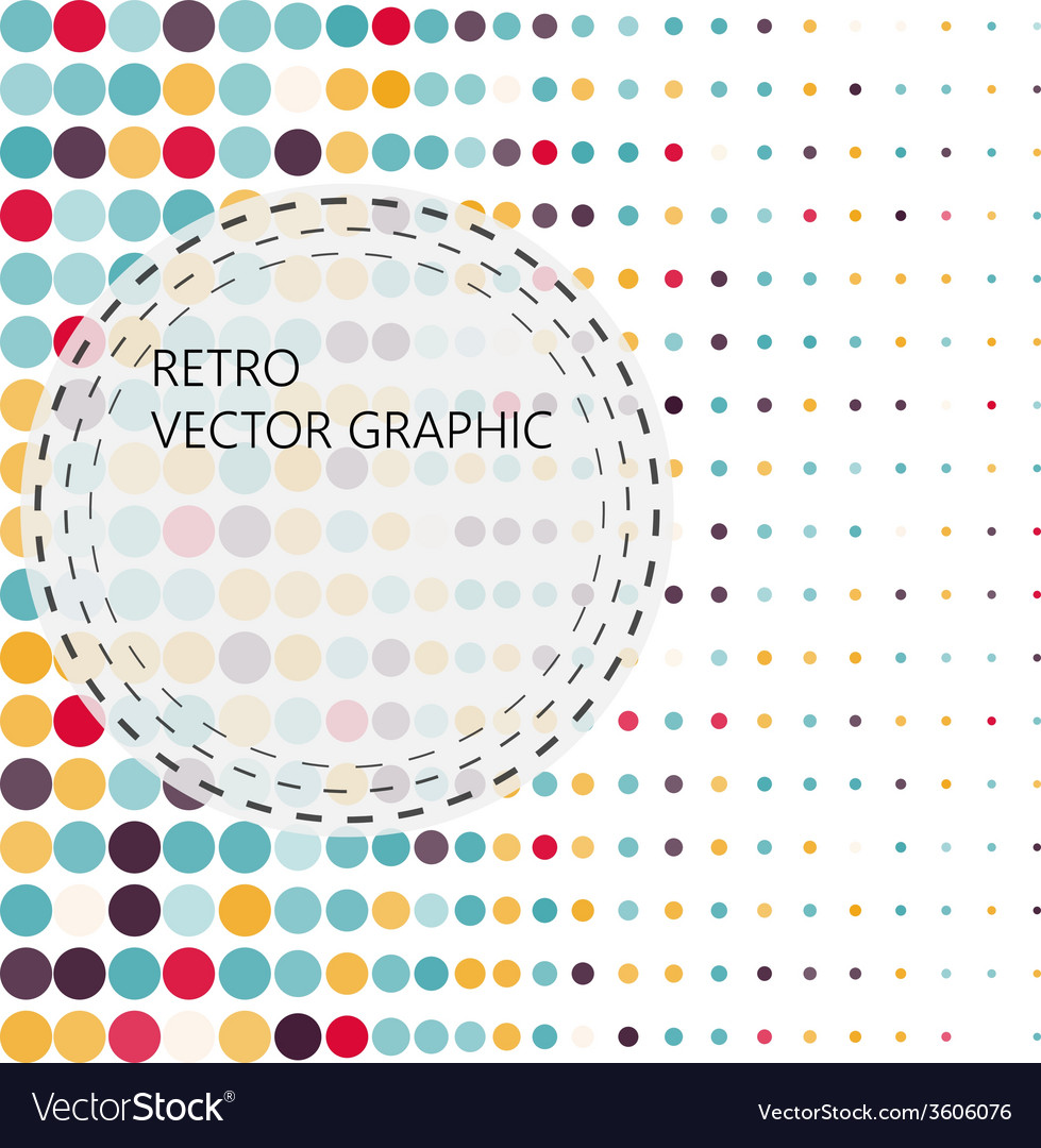 Background with the coloured circles in a vector | Price: 1 Credit (USD $1)