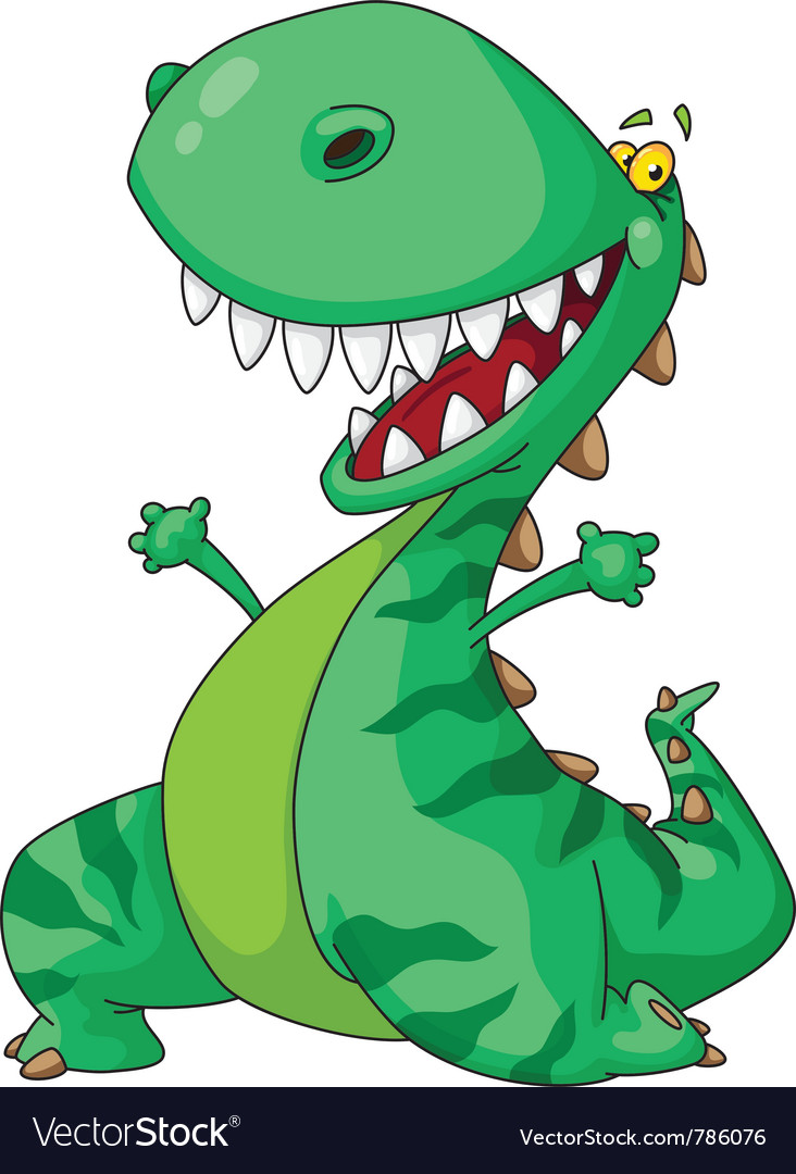 Cheerful dinosaur vector | Price: 1 Credit (USD $1)