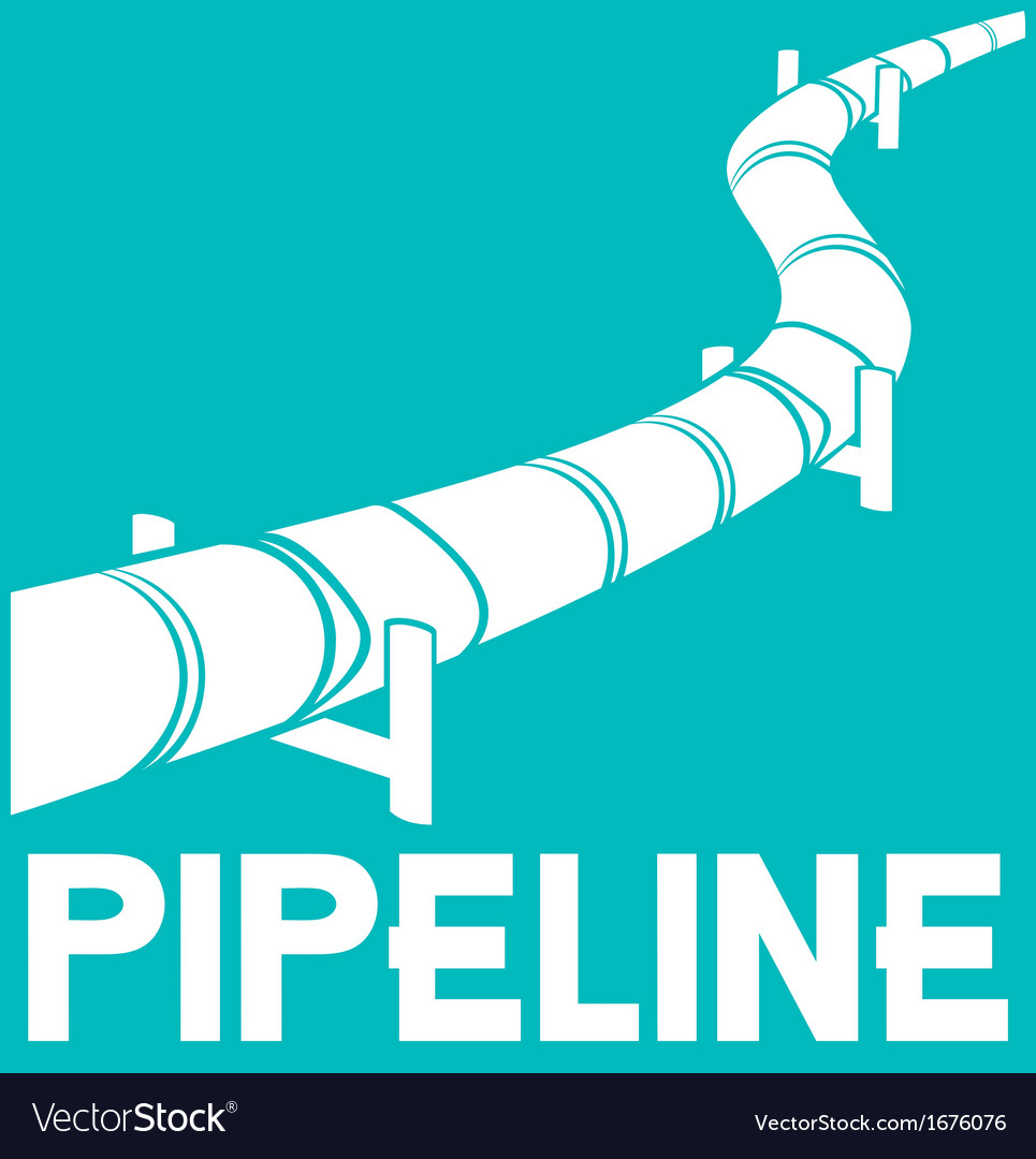 Pipeline sign - pipeline design vector | Price: 1 Credit (USD $1)