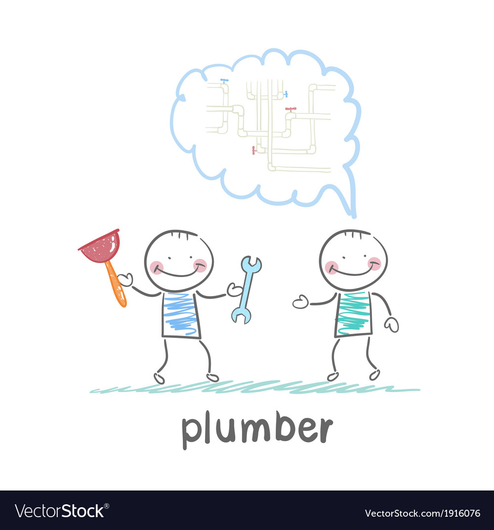 Plumber says customer vector | Price: 1 Credit (USD $1)