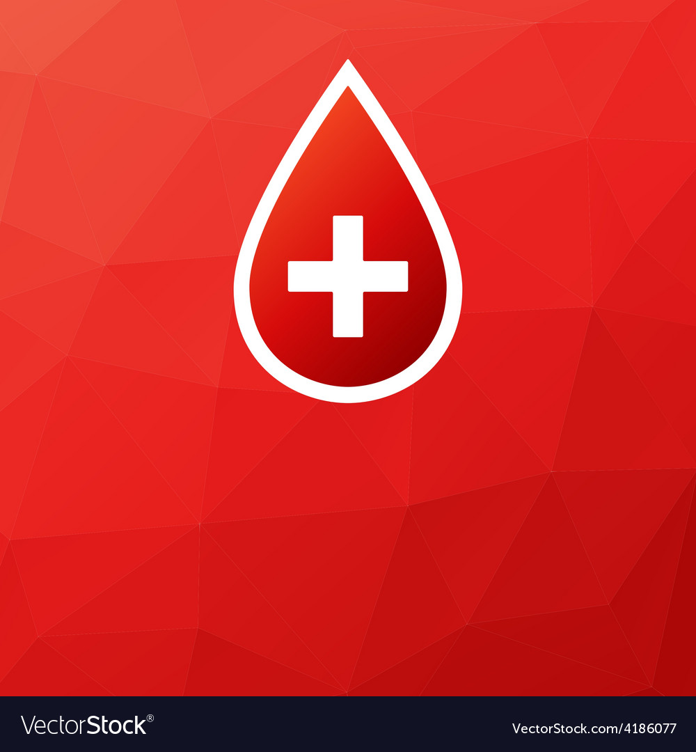 Blood donation medical background vector | Price: 1 Credit (USD $1)