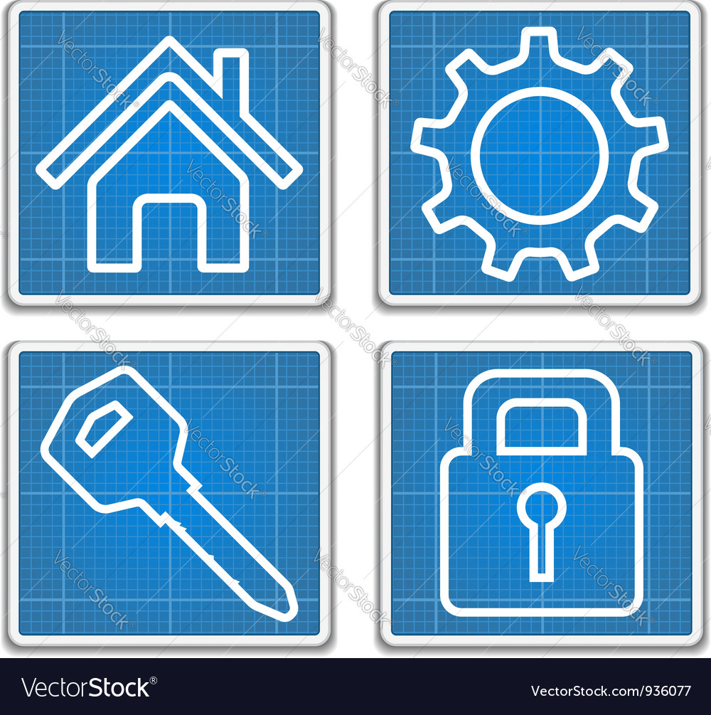 Blueprint icons vector | Price: 1 Credit (USD $1)