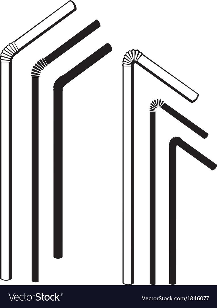 Drinking straws vector | Price: 1 Credit (USD $1)