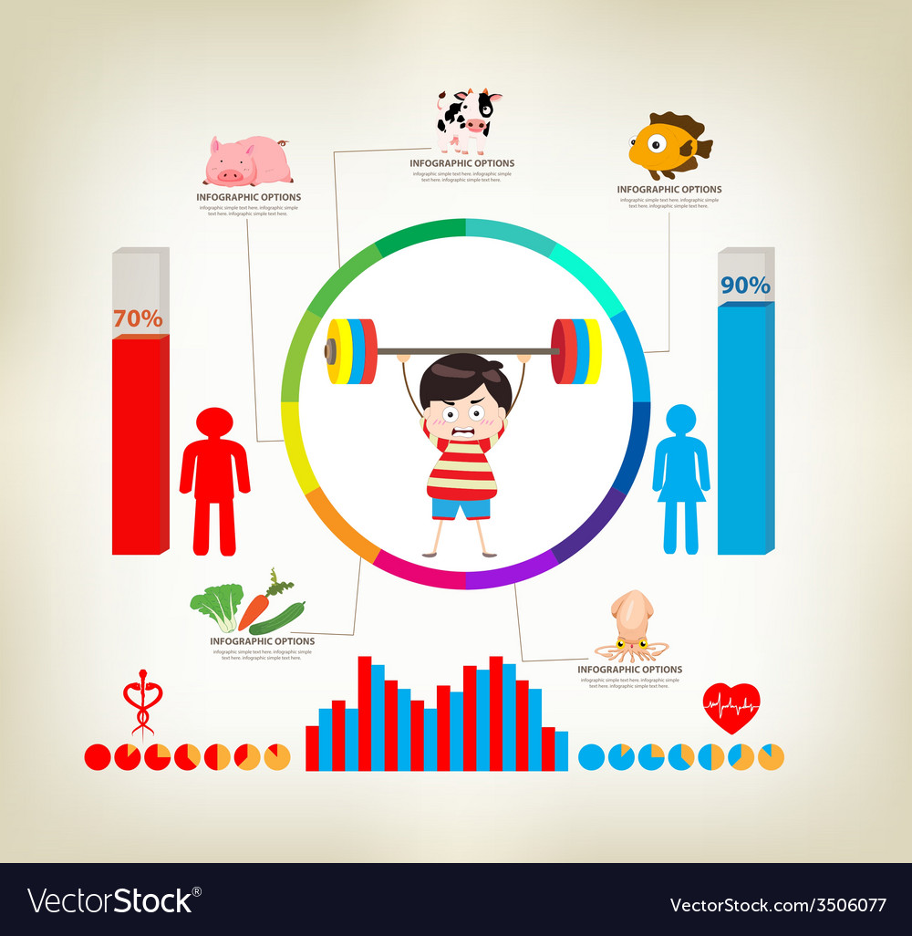 Exercise infographics elements vector   Price: 1 Credit (USD $1)
