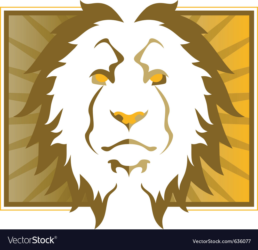 Lion head art vector | Price: 1 Credit (USD $1)