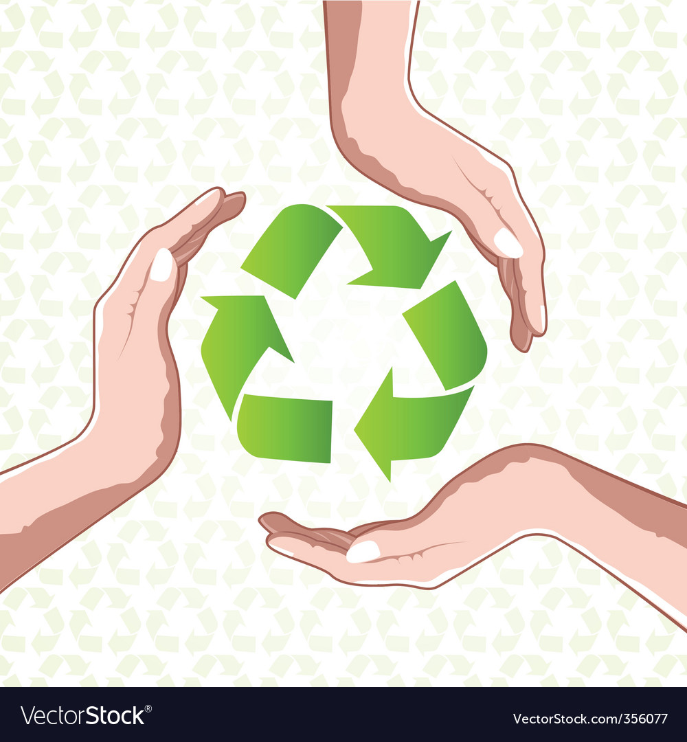 Recycle icon with hands vector | Price: 1 Credit (USD $1)