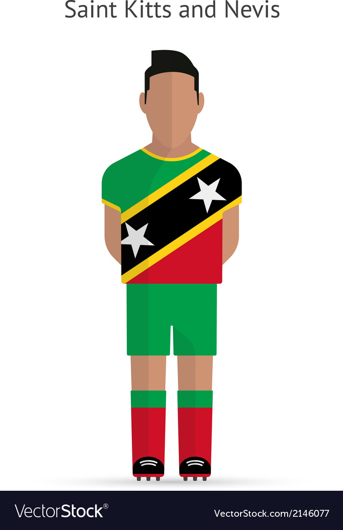 Saint kitts and nevis football player soccer vector | Price: 1 Credit (USD $1)