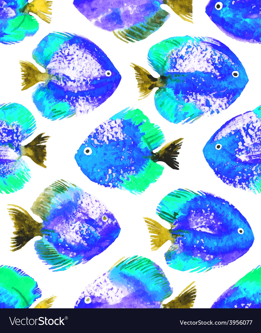 Seamless pattern with watercolor discus vector | Price: 1 Credit (USD $1)