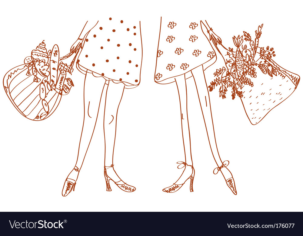 Slim and fat women vector | Price: 1 Credit (USD $1)
