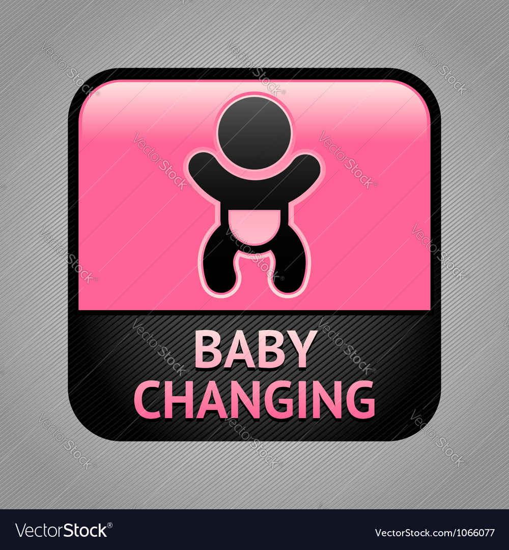 Symbol baby changing facilities vector | Price: 1 Credit (USD $1)