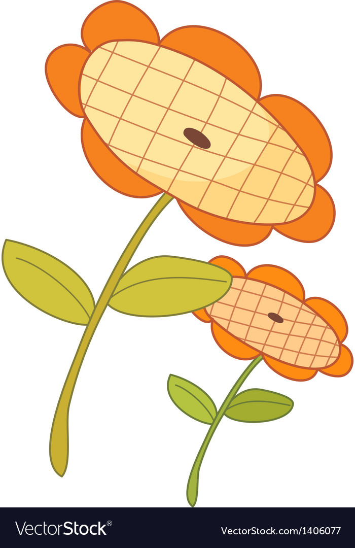 The two of sunflowers vector | Price: 1 Credit (USD $1)