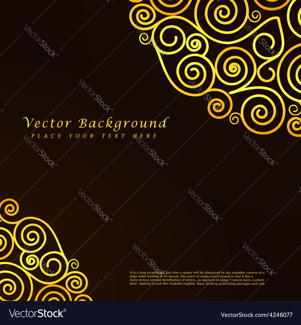 Vintage abstract background with golden vector | Price: 1 Credit (USD $1)